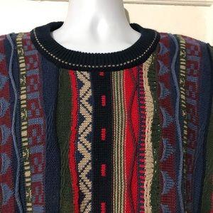 CAPE ISLE KNITTERS Sweater Striped Cosby Biggie